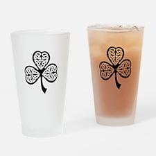 Celtic Shamrock Drinking Glass