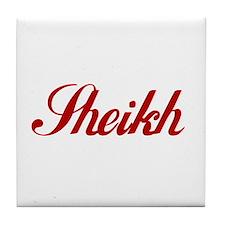Sheikh name Tile Coaster
