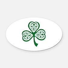 Celtic Shamrock Oval Car Magnet