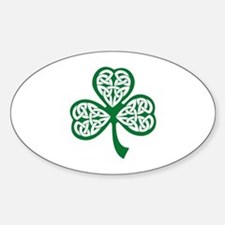 Celtic Shamrock Sticker (Oval)