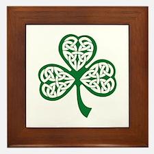 Celtic Shamrock Framed Tile