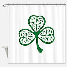 Celtic Shamrock Shower Curtain
