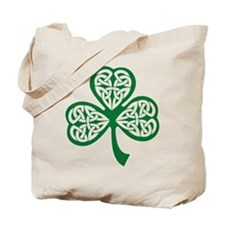 Celtic Shamrock Tote Bag