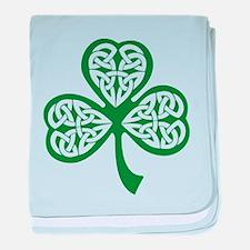 Celtic Shamrock baby blanket