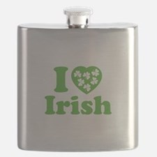 I Love Irish Flask