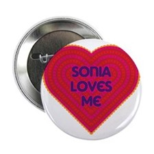 """Sonia Loves Me 2.25"""" Button"""