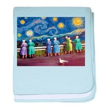 Day Trippers baby blanket