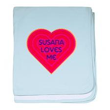 Susana Loves Me baby blanket