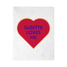 Suzette Loves Me Twin Duvet