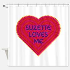 Suzette Loves Me Shower Curtain