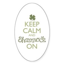 Keep Calm and Shamrock On Decal