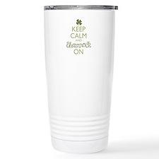 Keep Calm and Shamrock On Travel Mug