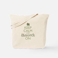 Keep Calm and Shamrock On Tote Bag