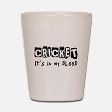 Cricket Designs Shot Glass