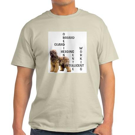 Briard crossword Ash Grey T-Shirt
