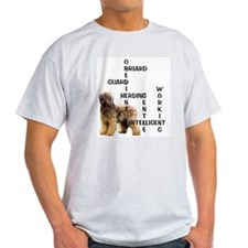 Briard crossword Ash Grey T-Shirt