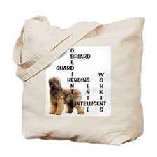 Briard crossword Tote Bag