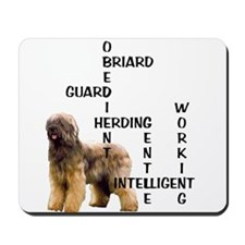 Briard crossword Mousepad
