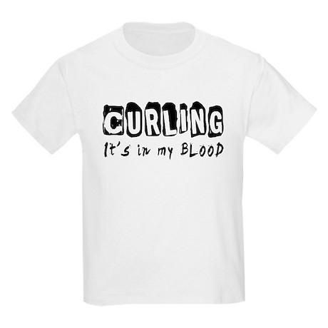 Curling Designs Kids Light T-Shirt