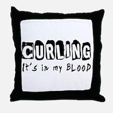 Curling Designs Throw Pillow