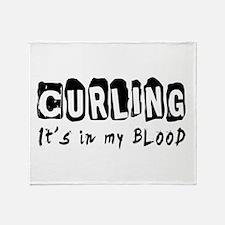 Curling Designs Throw Blanket