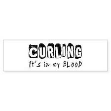 Curling Designs Bumper Sticker