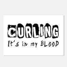Curling Designs Postcards (Package of 8)
