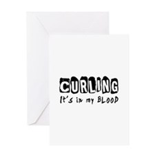 Curling Designs Greeting Card