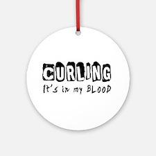 Curling Designs Ornament (Round)