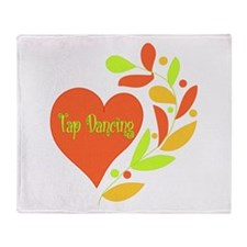 Tap Dancing Heart Throw Blanket