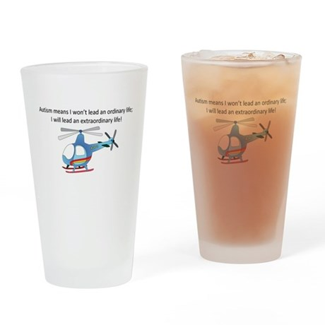helicopter Drinking Glass