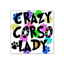 "Crazy Corso Lady Square Sticker 3"" x 3"""