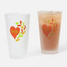 Tai Chi Heart Drinking Glass