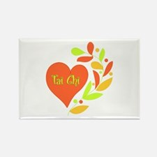 Tai Chi Heart Rectangle Magnet (10 pack)