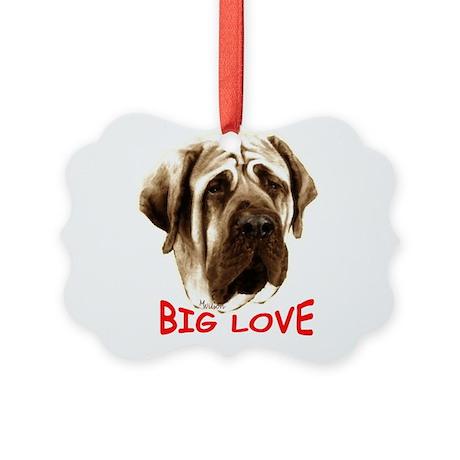 mastiff Picture Ornament