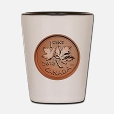 Canadian Penny Shot Glass
