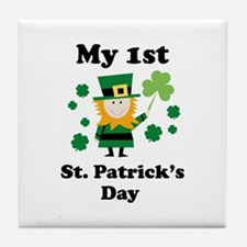 My 1st St. Patricks's Day Tile Coaster
