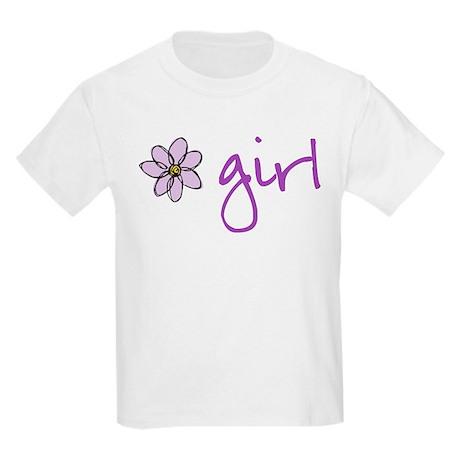 Flower Girl - Purple T-Shirt
