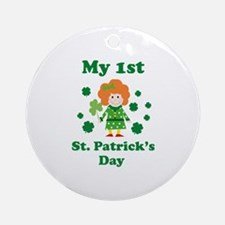 My 1st St. Patrick's Day Ornament (Round)