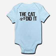 The Cat Did It Infant Creeper Body Suit