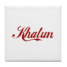 Khatun name Tile Coaster