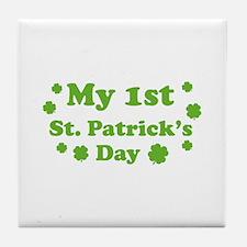 My 1st St. Patrick's Day Tile Coaster