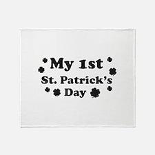 My 1st St. Patrick's Day Throw Blanket