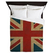 Cute Union jack vintage Queen Duvet