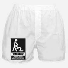 Unique Warning choking hazard Boxer Shorts