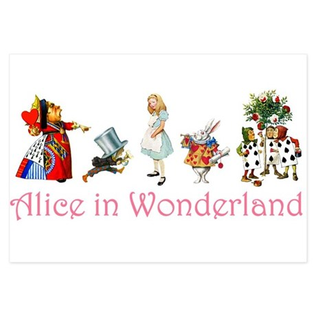 Alice in Wonderland 3.5 x 5 Flat Cards