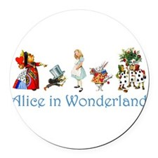 Alice Blue 4 Round Car Magnet