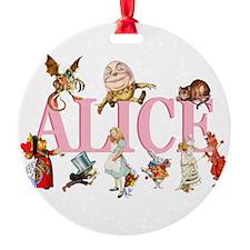 Alice Pink 3 Ornament
