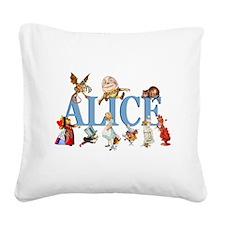 Alice Blue 3 Square Canvas Pillow