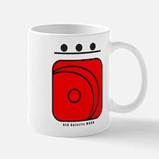 RED Galactic MOON Mug